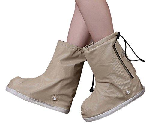 Haute aide neige bottes antidérapantes Couvre-chaussures imperméables, GRIS