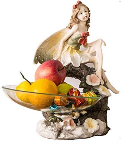 YATUKESHII Escultura Creativa decoración de Escritorio Dormitorio decoración de la Sala de Estar,Snacks Melón Semillas Frutas Nueces Bandeja de Frutas Resina Artesanía Obra de Arte