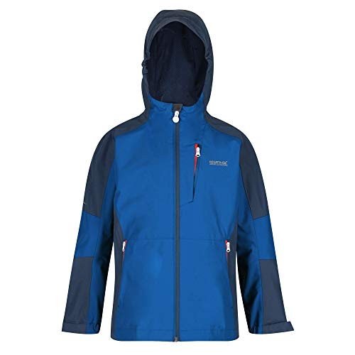 Regatta Calderdale II Shell Jacket, NautiBl/DkDe, 14 Years Unisex-Child