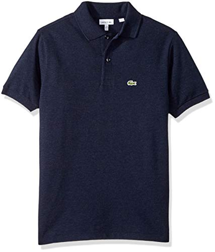 Lacoste Little Boys' Short Sleeve Classic Pique Polo, Eclipse Blue Chine, 3