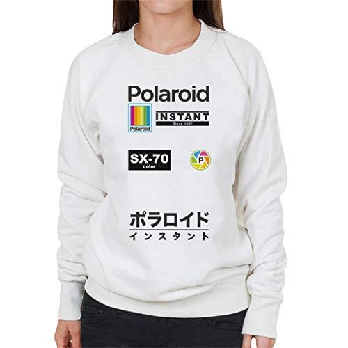 Polaroid SX70 Logo Badges Women's Sweatshirt White