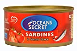 Oceans Secret - Canned Sardines in Tomato Sauce, 180g (Pack of 2)