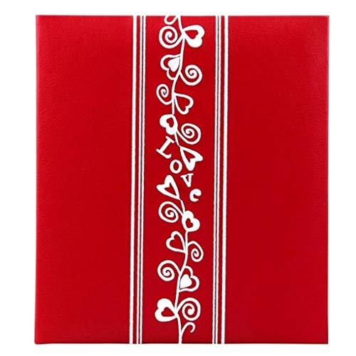 XYSQWZ Album Fotografico con Tasche Bimbo, 5x7 '' 160 Foto, Copertina Ricamata in PU, Pagine di Fessure, Album di Foto di Famiglia Album Creativi Turismo Turismo (Colore: Pagine Nere)