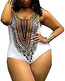 SACKDERTY Traje de baño Sexy Monokini para Mujer, Bikini Caliente étnico Boho, Trikini de mar, Push Up, Estampado Africano, Traje de baño coordinado, Verano