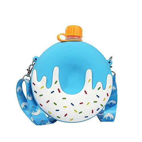 Jusemao Creative Donut botella de agua portátil deportes al aire libre botella de agua niños taza de agua Bpa libre pequeño 250ml grande 900ml regalo para niños-f_900ml