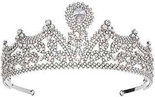 LUCKYYY Accessori per Abiti da Sposa Corona Corona in Pietra da Sposa