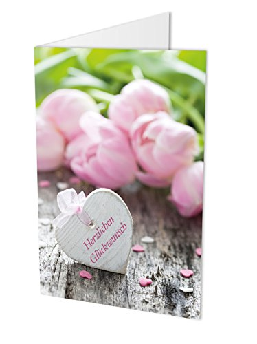Maxi-kaart GEWENSTE GELIEK vouwkaart DIN A4 met envelop, verjaardagskaart, felicitatiekaart, felicitatiewensen, felicitatie, verjaardag, huwelijk