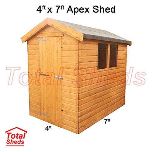 Total Sheds 7ft (2.1m) x 4ft (1.2m) Shed Apex Shed Garden Shed Timber Shed