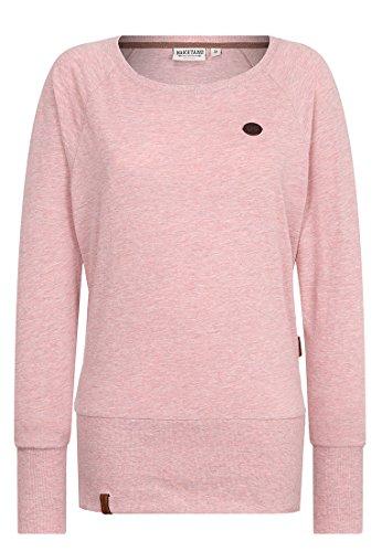 Naketano Female Sweatshirt Groupie, schmutzmuschi pink melang, S