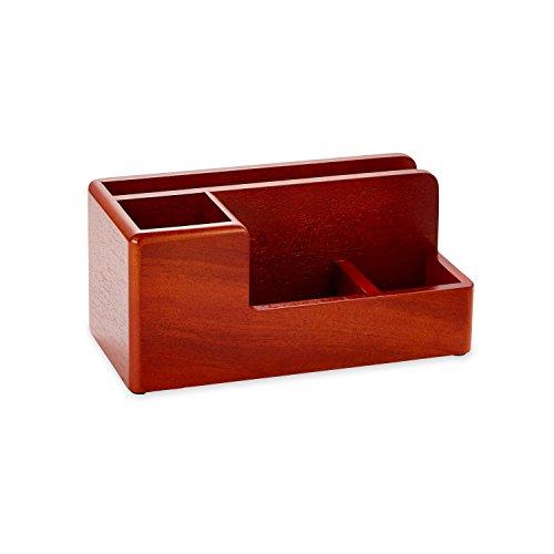 Rolodex 1734648 Ein eleganter warmer Metropolitan-Look. Schreibtisch-Organizer, Mahagoni