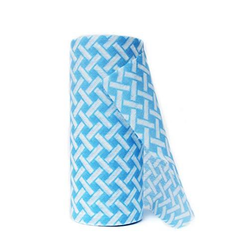 JEBBLAS Essuie-tout lavable | Papier Absorbant réutilisable Multi-usage Résistant, épais et absorbant 90 bleu