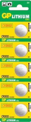 Cellule GP Batteries CR2032 Coin-C5 lithium (prix et vendu par bande de cinq)