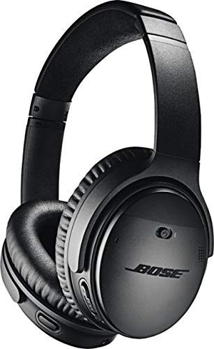 Bose QuietComfort 35 (Series II) Wireless Headphones, Noise Cancelling, Alexa Voice Control - Black - Worldwide Version (Renewed)