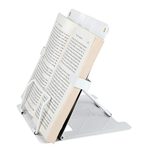 Soporte de Libros para Lectura Multifuncional de Metal Atril de Lectura Portátil con 6 Niveles Ajustables Estantes de Exhibición para Recetas Libros de Texto Documentos