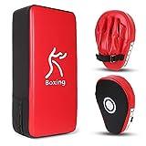 Odoland 2-in-1 Pugilato Kit per Bambini, Include Guanti da Passata da Boxe, Pad da Boxe e Taewondo, Set per Kickboxing, Karate, Muay Thai, MMA Training