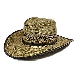 The Hatter(ザ・ハッター) 麦わら帽子 農作業 帽子 ガーデニング カウボーイ型 UV 日よけ メンズ レディース おしゃれ UVカット 紫外線 日焼け つば広 春 夏 首 首ガード 父の日 ブラウン