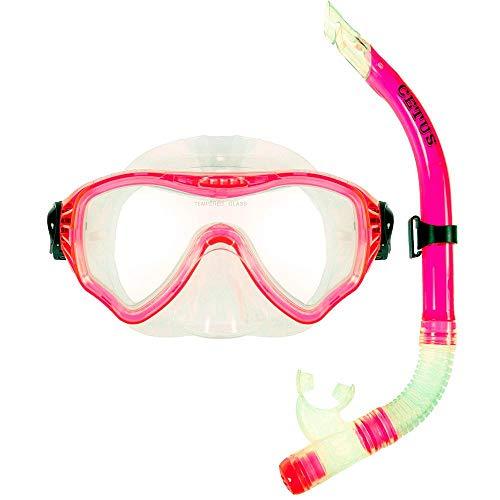 Kit de Mergulho Máscara+respirador Cetus New Parma Pro - Rosa