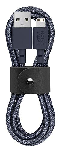 Native Union Belt Cable USB-A a Lightning - Cable Reforzado y Ultrarresistente...
