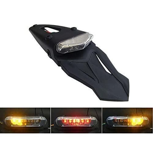 motorbike led stoplight tail light with integrated indicators homologated  for rear mudguard/fender