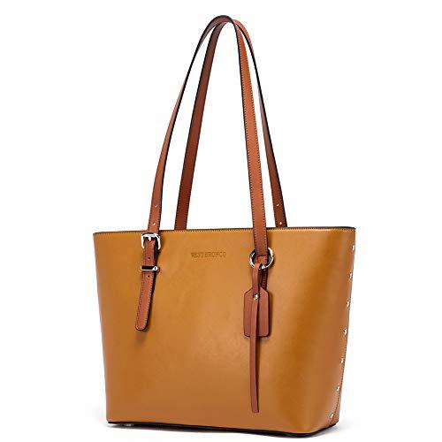 Leder Handtasche Damen Schultertaschen Designer Shopper Taschen Tote Bag Braun