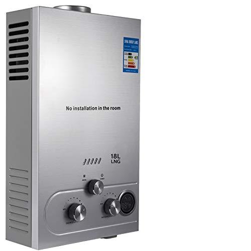 VEVOR Calentador de Gas 6L/8L/10L/12L/16L/18L, Calentador de Agua de Gas Natural, Calentador de Agua a Gas LNG, Calentador Gas, Calentador de Agua (18L)