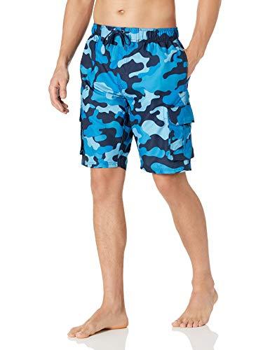 Kanu Surf Men's Barracuda Swim Trunks (Regular & Extended Sizes), Camo Navy, X-Large