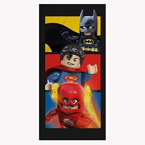 Lego DC Superhéroes Boom Toalla de baño de algodón para playa Batman Flash Superman