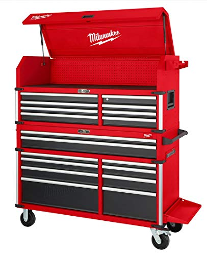 Milwaukee 56' Premium 18-Drawer Tool Box Chest and Cabinet Combo with Electronic Keypad Lock