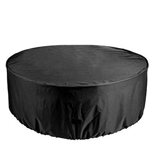 XYSQWZ Garden Covers Waterproof 91 Diax43 H, Patio Cover Black, Outdoor Table Cover Round, 420D Heavy Duty Oxford Fabric Patio Table Covers