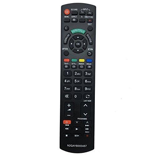 ALLIMITY Fernbedienung N2QAYB000487 Ersetzen für Panasonic LED LCD Viera Plasma TV N2QAYB000239 N2QAYB000354 TX-L22X20E TX-L22X20L TX-L24C3B TX-L24C3E TX-L24C3ES TX-L24E3B TX-L24E3E TX-L26C20B