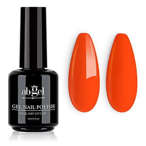 ab gel Smalto per unghie in gel, 1Pcs 15ml Smalto per gel Arancio neon Soak Off Smalto per unghie a...
