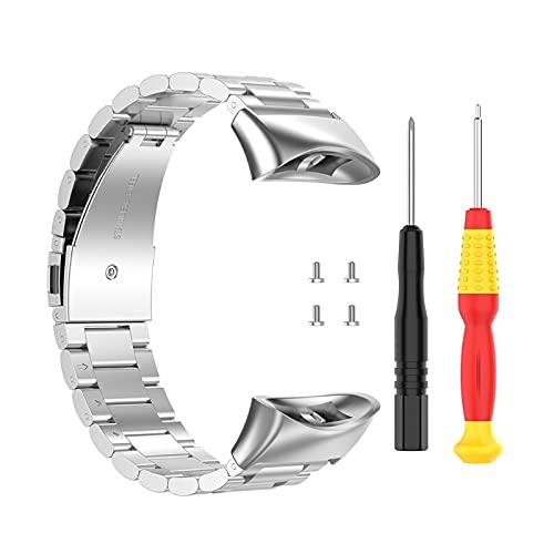 Compatible con Forerunner 45/45S Correa de reloj de repuesto de acero inoxidable para hombre, correa de silicona para mujer, correa de silicona para reloj Samsung