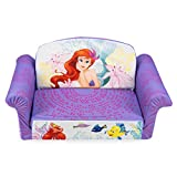 Marshmallow Furniture 2-in-1 Flip Open Couch Bed Sleeper Sofa Kid's Furniture for Ages 2 Years Old and Up, The Little Mermaid