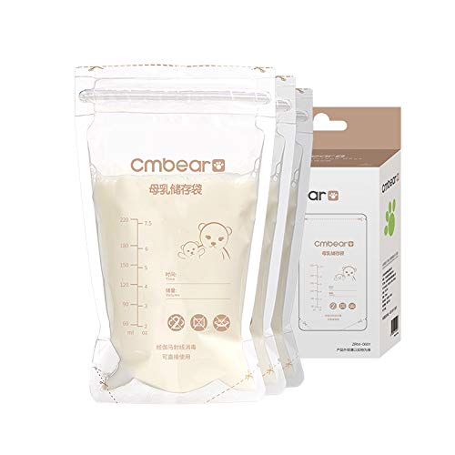 Best Deals! Breast Milk Storage Bags,THJH Convenient Milk Storage Bags for Breastfeeding,7.8OZ/220ml...