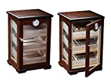 Prestige Import Group Milano Countertop Display Cigar Humidor with 4 Glass Sides & Angled Trays - Up...