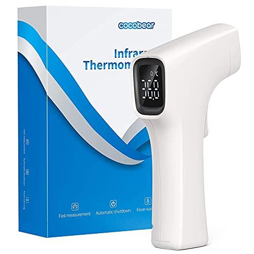 CocoBear Stirnthermometer,Digitales Baby Thermometer,Fieberthermometer,Infrarot Thermometer,Thermometer für Kinder und Erwachsene, genaue Messzeit von 1 Sekunde