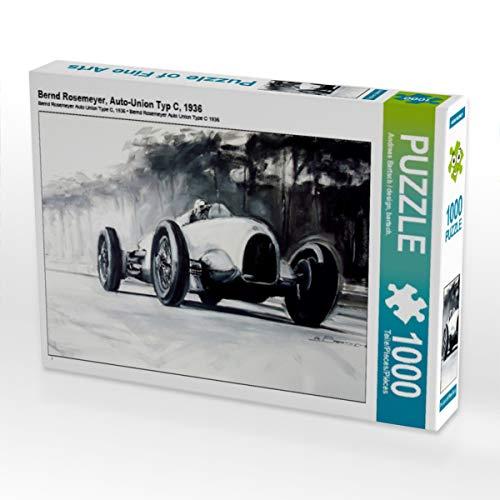 CALVENDO Puzzle Bernd Rosemeyer, Auto-Union Typ C, 1936 1000 Teile Lege-Größe 64 x 48 cm Foto-Puzzle Bild von Design, bartsch.