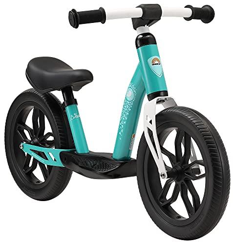 BIKESTAR Bicicletta Senza Pedali Extra Leggera per Bambino et Bambina 3 - 4 Anni | Bici Senza Pedali Bambini 12' Pollici Eco Classico | Turchese