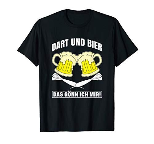 Dart & Bier Darts Dartspieler Dartscheibe Dart Geschenk T-Shirt