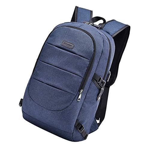 B Blesiya Mochila antirrobo para portátil + bolsa escolar - azul