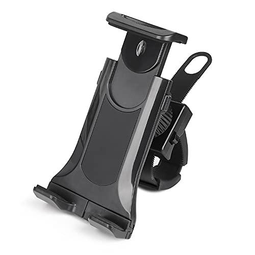 KAIYAN Soporte universal para teléfono de bicicleta, soporte universal de 360°, ajustable para manillar de bicicleta, soporte para manillar irrompible, compatible con tabletas de 4 a 10.5 pulgadas