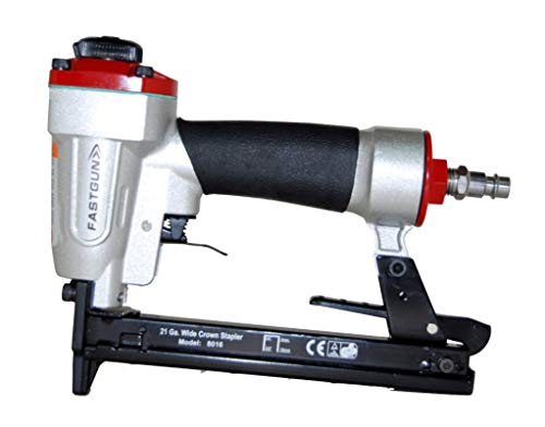 Grapadora Neumática FASTGUN FG 8016 para grapa Tipo 80 de 6 a 16 mm + 2.000 Grapas 80/8 mm + Maletín + Aceite para engrase + Llaves allen