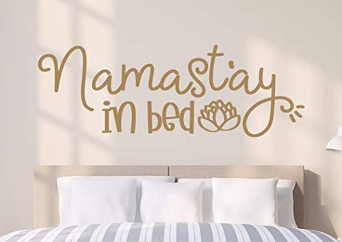 Littledollz Namastay in Bed Namastay in Bed Wall Decal Namaste in Bed Wall Art Namastay in Bed Vinyl Decal Namaste in Bed Wall Decor Namaste in Bed 22 Inch Tall