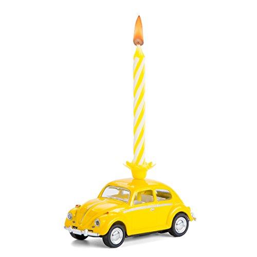 corpus delicti :: Kerze auf Rädern – VW Käfer – das Geburtstagsgeschenk für alle Beetle-Fans (gelb) (20.5K)
