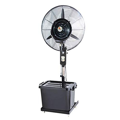 Ventilador de Pedestal Industrial Ventilador oscilante con nebulizador de pulverización Permanente para Brisa Fresca para Interiores y al Aire Libre - Ventilador Industrial Grande - 3 velocidades de