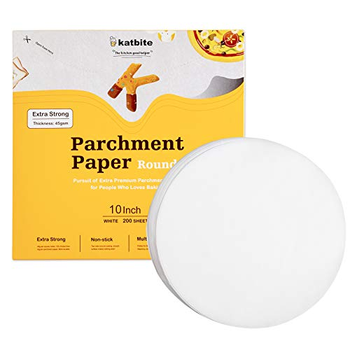 200 count - 10 Inch Parchment Paper Rounds