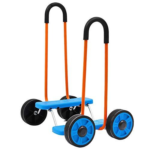 Smart panda Dreirad-Fußstütze - Kinder-Dreiradwagen 2-3-6 Jahre altes Fahrrad Leichter zusammenklappbarer Kinderwagen, Blue