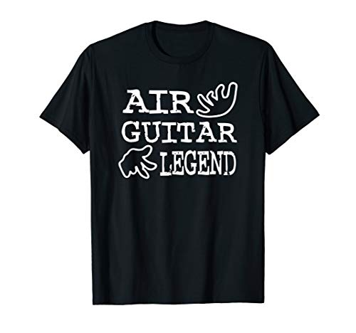 Air Guitar Legend Funny Music Instrument Design T-Shirt