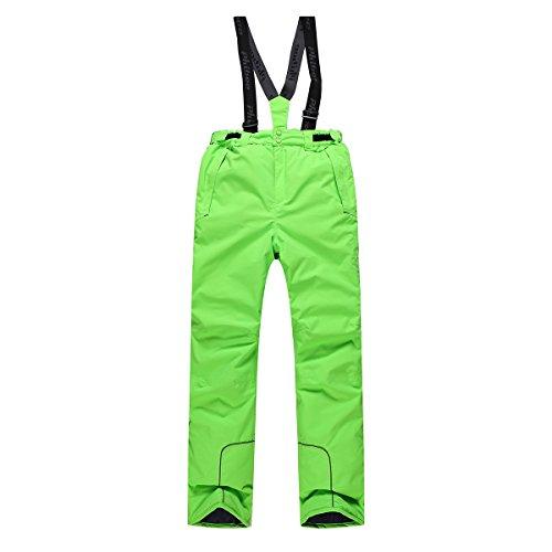 PHIBEE Boys' Waterproof Breathable Polyester Snowboard Ski Pants Green 6X