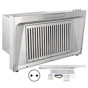 Hotte de cuisinière sous armoire hotte aspirante de cuisine Extracteur de graisse de cuisine Alliage d'aluminium Produits domestiques avec déflecteur pour la maison de cuisine(Prise UE)